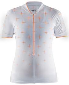Craft Belle Glow Jersey - damska koszulka rowerowa - biała