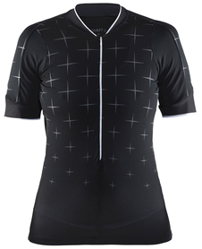 Craft Belle Glow Jersey - damska koszulka rowerowa - czarna