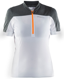 Craft Motion Jersey - damska koszulka rowerowa - biała/szara