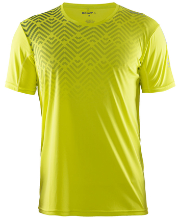 Craft Mind SS Tee koszulka męska zółta print