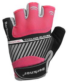 Berkner Race Woman II - damskie rękawiczki rowerowe - czarno-różowe
