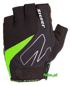 Ziener Crave Memory Foam - męskie rękawiczki rowerowe - czarne / limonkowe