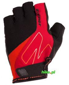 Ziener Crave Memory Foam - męskie rękawiczki rowerowe - czarne / czerwone