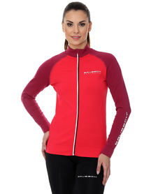 Brubeck Athletic - damska bluza malinowy/amarantowy