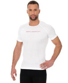 Brubeck 3D Run PRO męska koszulka do biegania krótki rękaw biała