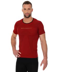 Brubeck 3D Run PRO męska koszulka do biegania krótki rękaw czerwona