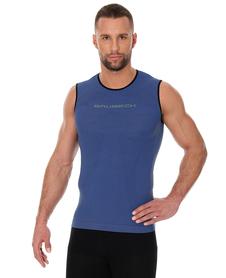Brubeck 3D Run PRO męski bezrękawnik do biegania niebieski