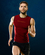 Brubeck 3D Run PRO męski bezrękawnik do biegania czerwony
