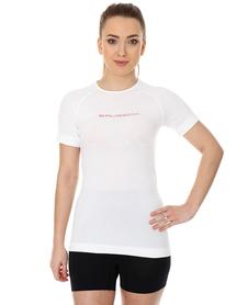 Brubeck 3D Run PRO damska koszulka do biegania krótki rękaw biała
