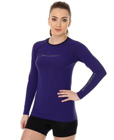 Brubeck 3D Run PRO damska koszulka do biegania długi rękaw fioletowa