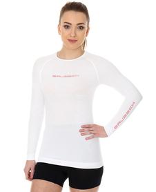 Brubeck 3D Run PRO damska koszulka do biegania długi rękaw biała