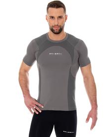 Brubeck Dynamic Outdoor koszulka z krótkim rękawem szara
