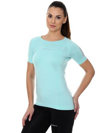 Brubeck Athletic damska koszulka krótki rękaw miętowa