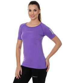 Brubeck Athletic damska koszulka krótki rękaw fioletowa