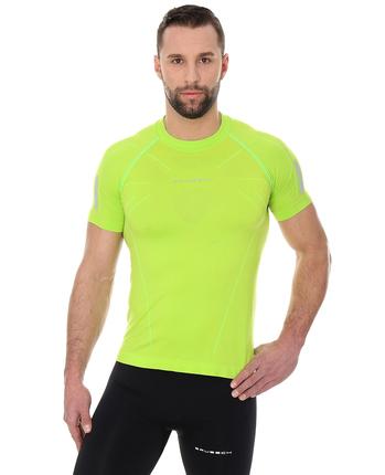 Brubeck Athletic męska koszulka krótki rękaw żółtozielona