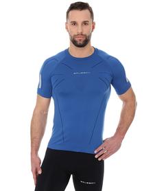 Brubeck Athletic męska koszulka krótki rękaw niebieska
