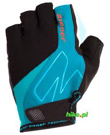 Ziener Crave Memory Foam - męskie rękawiczki rowerowe - czarne / niebieskie
