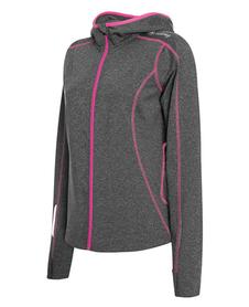 Damska bluza do biegania z kapturem Marion szara/różowa