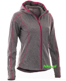 Viking Marion damska bluza z kapturem szara/różowa