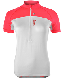 Silvini Gruso - damska koszulka rowerowa - biała/różowa