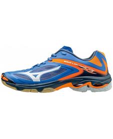 buty do siatkówki Mizuno Wave Lightning Z3 niebiesko/pomarańczowe