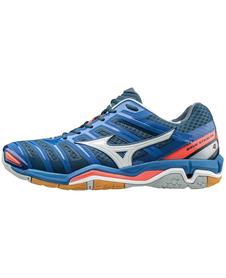 Mizuno Wave Stealth 4 - buty halowe - niebieskie