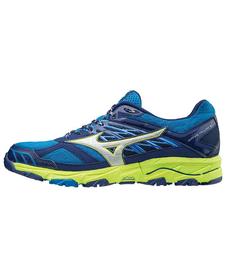 Mizuno Wave Mujin 4 - buty do biegania w terenie - granatowo-żółte