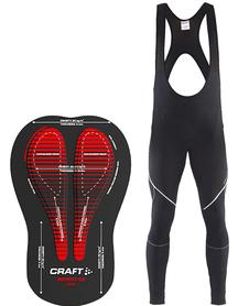 Craft Verve Bib Thighs męskie spodnie rowerowe