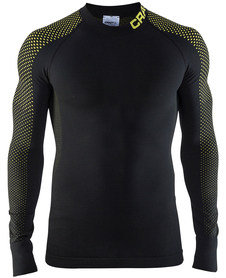 Craft Warm Intensity CN LS - koszulka męska - czarna/żółta