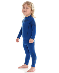 dziecięca koszulka termoaktywna Brubeck Thermo niebieska