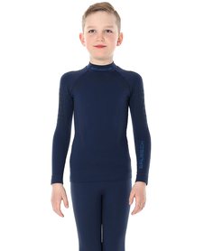 juniorska koszulka termoaktywna Brubeck Thermo granatowa