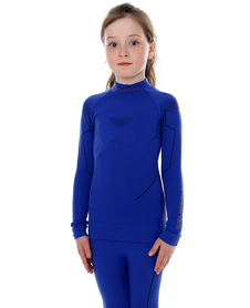 juniorska koszulka termoaktywna Brubeck Thermo kobaltowa