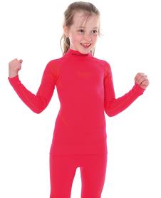 juniorska koszulka termoaktywna Brubeck Thermo malinowa