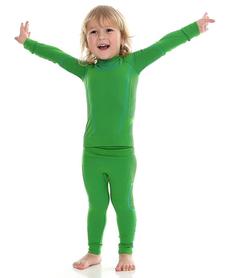 dziecięca koszulka termoaktywna Brubeck Thermo zielona