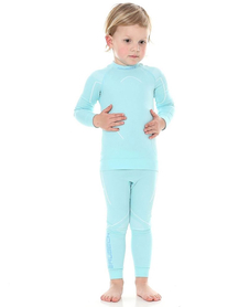 dziecięca koszulka termoaktywna Brubeck Thermo błękitna