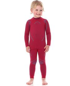 dziecięca koszulka termoaktywna Brubeck Thermo rubinowa