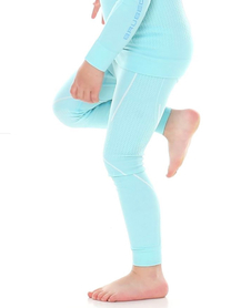 dziecięce kalesony termoaktywne Brubeck Thermo błękitne