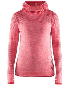 Craft Core Seamless Hood damska bluza z kapturem różowa