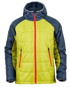MILO BOMO - męska kurtka zimowa, limonka/granat