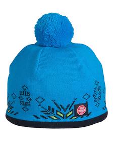 Viking Windstopper - wiatroszczelna czapka z pomponem - niebieska