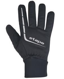 Etape Gear WS+ ciepłe wiatroszczelne rękawiczki czarne/szare