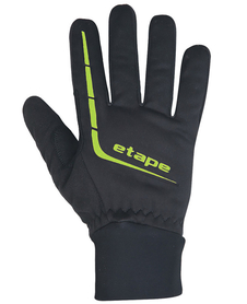 Etape Gear WS+ ciepłe wiatroszczelne rękawiczki czarne/żółtozielone