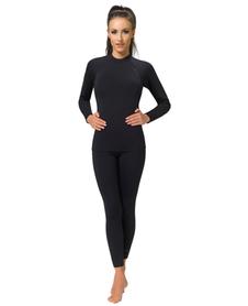 GWINNER TOP komplet koszulka + legginsy damskie, czarne