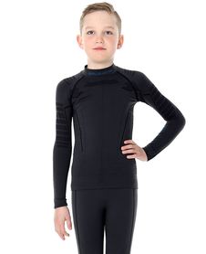 juniorska koszulka termoaktywna Brubeck Thermo czarna