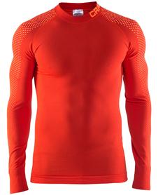 Craft Warm Intensity CN LS - koszulka męska - czerwona