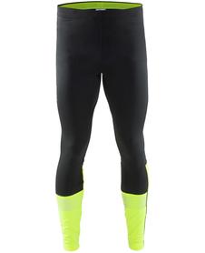 męskie spodnie do biegania Craft Brilliant 2.0 Thermal Tights czarne-żółte