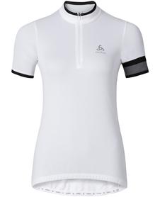 Odlo Breeze - damska koszulka rowerowa z krótkim rękawkiem - biała