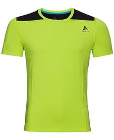 Odlo Top Ceramicool męska koszulka z krótkim rękawem żółtozielona