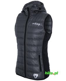 Viking Becky Vest damska kamizelka primaloft z kapturem szara/czarna