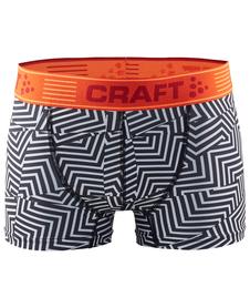 Craft Greatness Boxer 3-inch - męskie bokserki - czarne/pomarańczowe